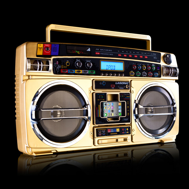 Lasonic I-931X Gold Ghetto Blaster