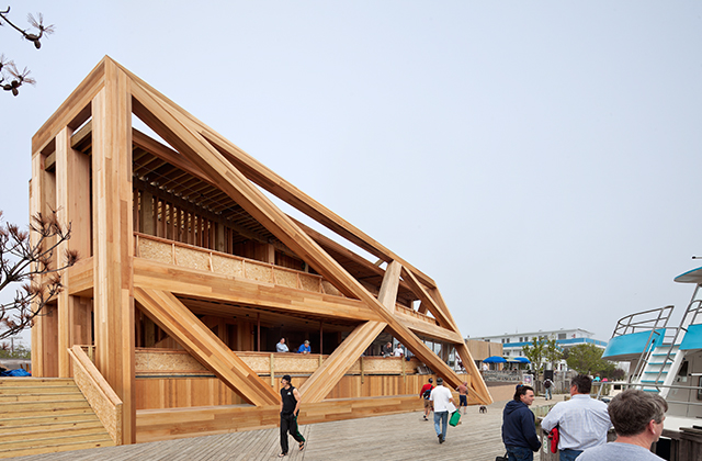 Fire Island Pines Pavilion by HWKN