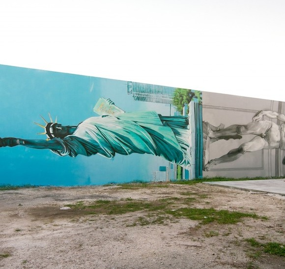 New_Mural_by_OZMO_ft_Lady_Liberty_and_Michelangelo_David_in_Miami_2014_06