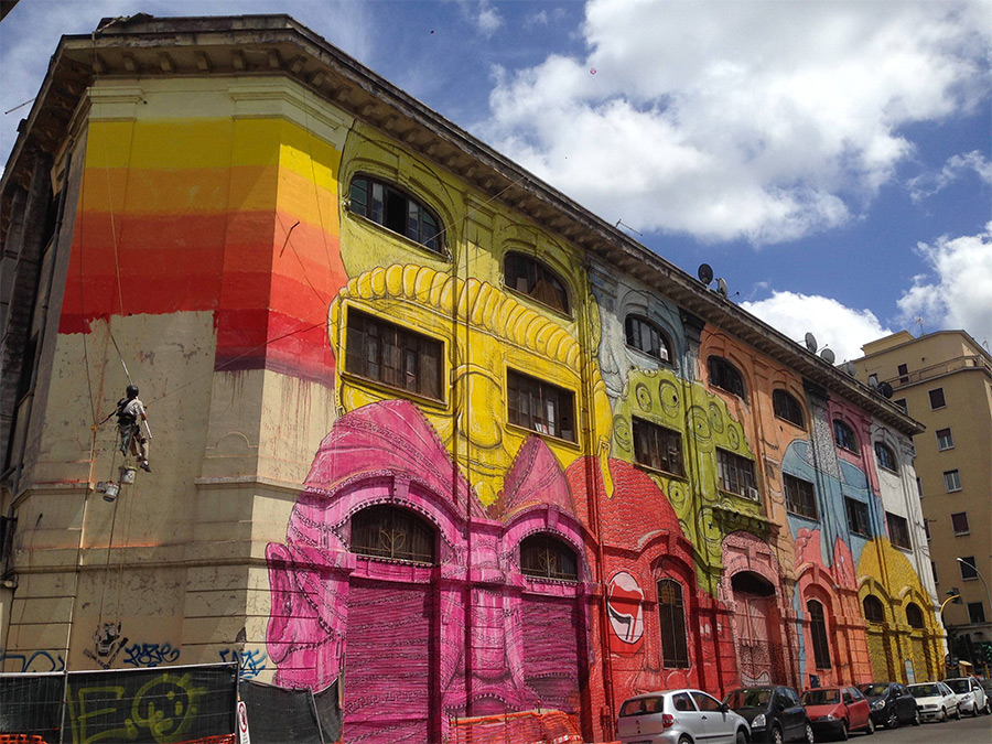 Blu's Massive New Mural in Rome