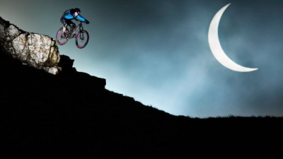 Danny MacAskill in Front of a Solar Eclipse