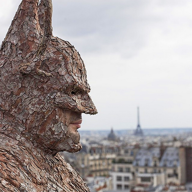 Wearable Batman Suit Out of Tree Bark