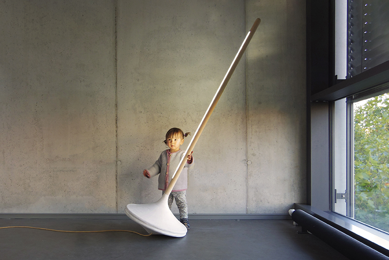 This Floor Lamp Was Inspired By A Child's Spinning Toy